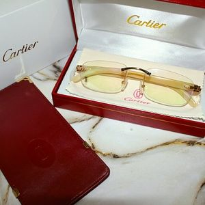 Other - Vintage Cartier Rimless Sunglasses